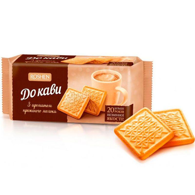 Roshen, 185 г, печенье, К кофе, топленое молоко