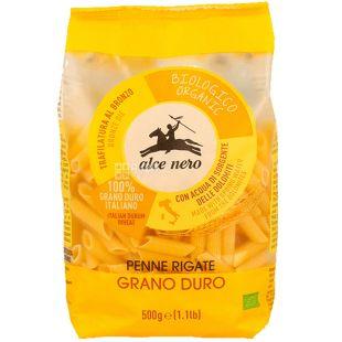 Alce Nero, Penne, 500 г, Альче Неро, Паста Пенне, из твердых сортов пшеницы