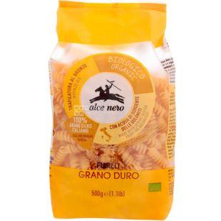Alce Nero, Fusilli, 500 г, Альче Неро, Паста Фузилли, из твердых сортов пшеницы