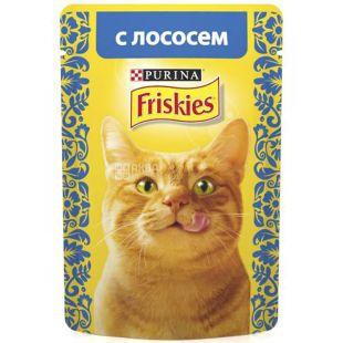 Friskies, Корм для котов с лососем в соусе, 85 г