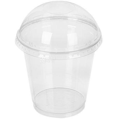 Десертний стакан з купольною кришкою прозорий 250 мл, 50 шт.