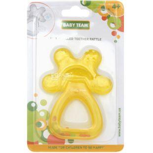 Baby Team, Прорізувач-брязкальце для зубів Бебі Тім, з водою, з 4-х місяців