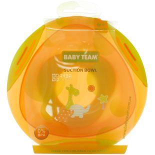 Baby Team, 300 мл, Бебі Тім, Тарілка на присосці, дитяча, з 6-ти місяців