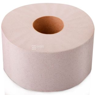 Mirus, Jumbo, 12 рул., Мирус, Туалетная бумага Джамбо серая, однослойная, 150 м