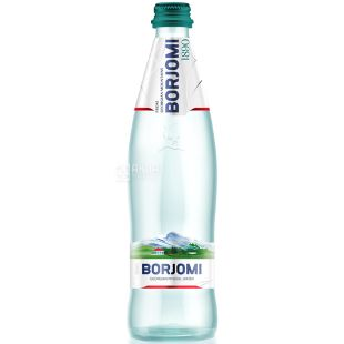 Borjomi (Borjomi), 0.5 l glass, Mineral water, highly carbonated, glass