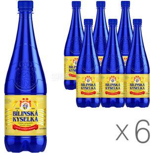 Bílinská Кyselka, 1 л, Упаковка 6 шт, Вода Билинска Киселка, минеральная, лечебно-столовая, газированная
