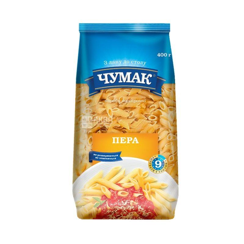 Чумак, 400 г, Макарони з твердих сортів пшениці, Пір'я