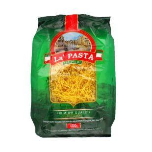 La Pasta, 0,4 кг, макарони, вермішель тонка