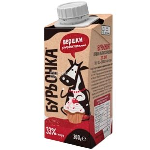 Burenka, 200 g, 33%, Cream, Ultra Pasteurized