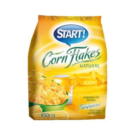 Start, 850 г, Пластівці Старт, кукурудзяні, сухий сніданок, швидкого приготування