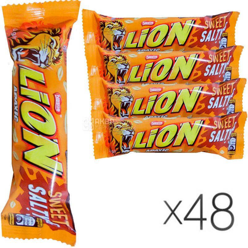 Батончик Nestle Lion, арахіс, 42 г, упаковка 48 шт.