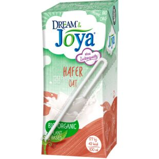 Joya, Hafer, 200 мл, Джоя, Напій рослинний, вівсяний, органічний