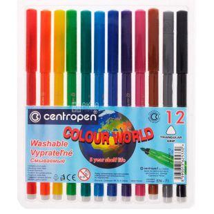 Centropen, Упаковка 12 шт., Набір кольорових фломастерів