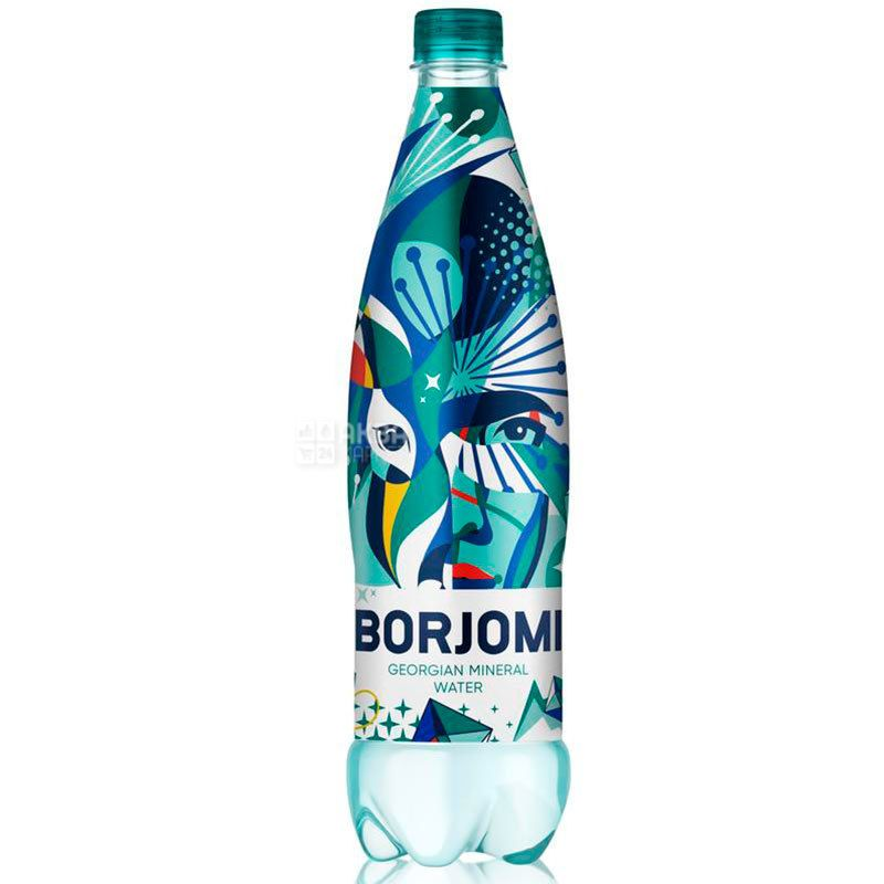 Borjomi, 0,75 л, Боржоми, Вода минеральная сильногазированная, ПЭТ