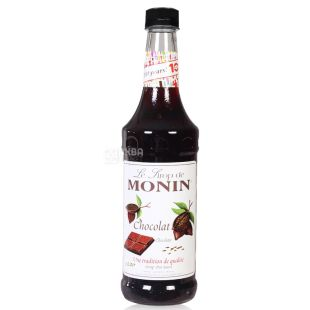 Monin Chocolate, Chocolate Syrup, 1 l, glass
