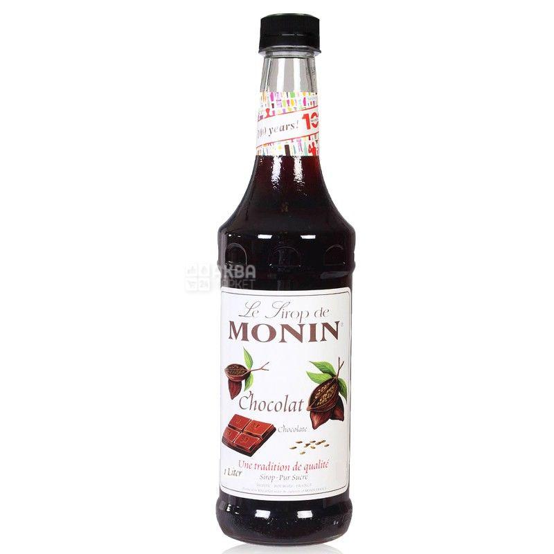 Monin, Chocolate, 1 л, Сироп Монин, Шоколад, стекло