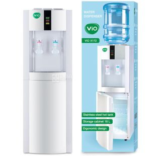 ViO X172-FCF Water cooler with compressor cooling and fridge, floor
