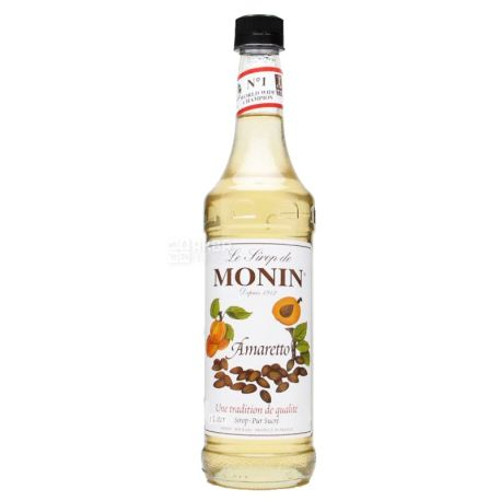 Monin, Amaretto, 1 л, Cироп Монин, Амаретто, ПЭТ
