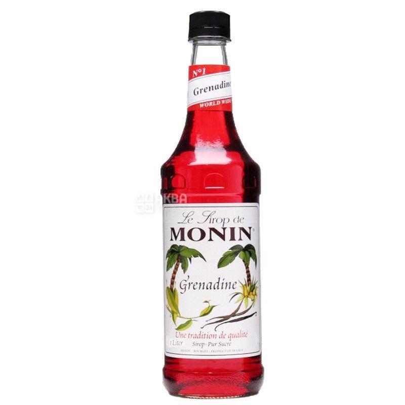 Monin Grenadine, 1 л, Сироп Монин,  Гренадин, стекло