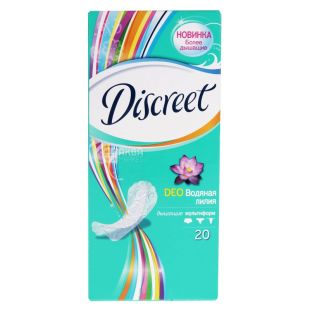 Discreet, 20 шт., прокладки, Deo Water Lily Multiform