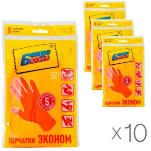 Bonus, pack of 10 PCs., universal Gloves, size S