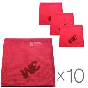 ZM, 36x36 cm, package 10 PCs., microfiber Cloth, red