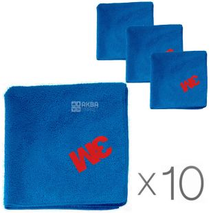 ZM, 36x36 cm, package 10 PCs., microfiber Cloth, blue