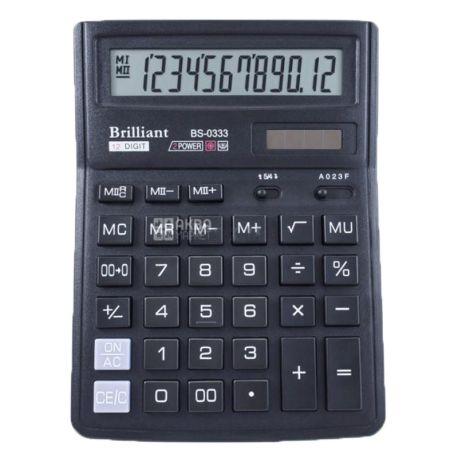 Brilliant BS-0333, Калькулятор настольный, 190х140 мм