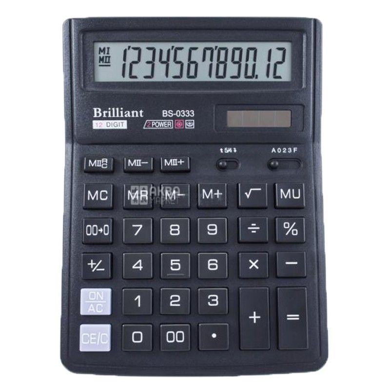 Brilliant, калькулятор, Настільний, BS-0333,190*140мм