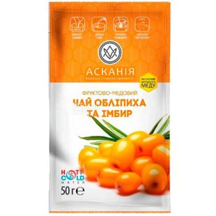 Askania, 50 g, Tea-concentrate Sea-buckthorn with ginger