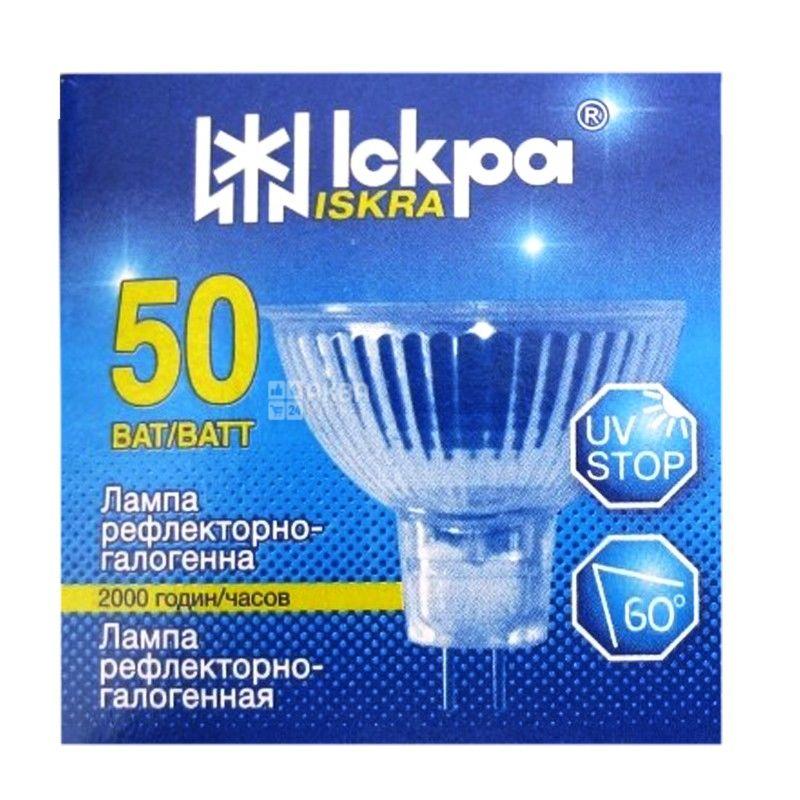 Іскра, 50 Вт, лампа, Рефлекторно-галогенна, м/у