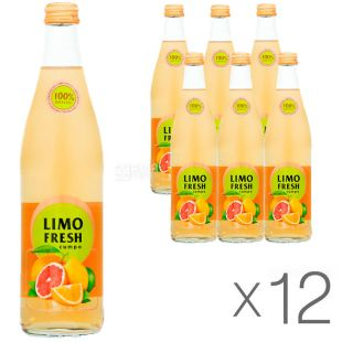 Limofresh, 0.5 l, pack of 12 PCs., Lemofresh, Citro, soft Drink, carbonated