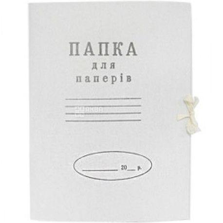 Папка картонная, На завязках, А4
