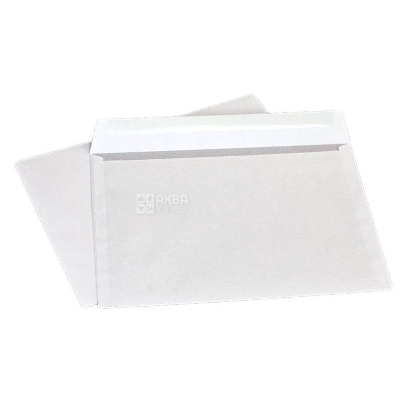Конверт С4 (229Х324 мм) белый 100 шт., з відривною стрічкою