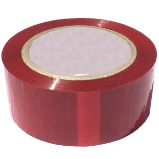 Promtus, packing 72 pcs., Scotch tape household, red, 48 mm x 60 m