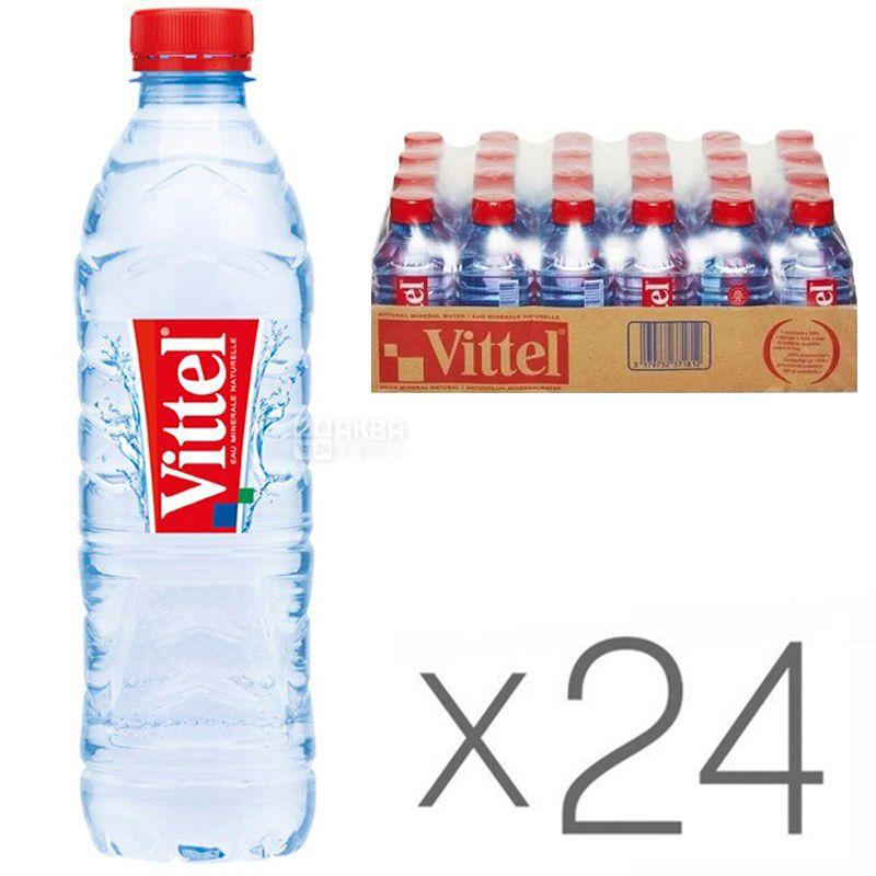 Vittel, 0,5 л, Упаковка 24 шт., Віттель, Вода мінеральна негазована, ПЕТ
