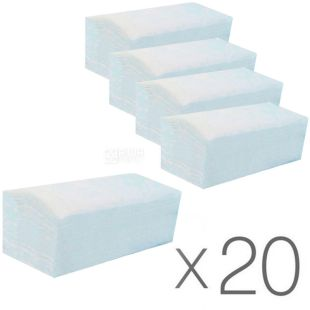 Bima, 150 pcs., 20 packs, Bima paper towels, 2-ply, V-folding, 23x25 cm