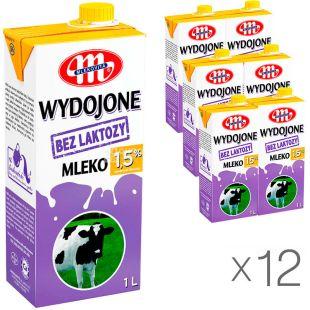 Mlekovita, упаковка 12 шт., по 1 л, Молоко безлактозное, ультрапастеризованное, 1,5%