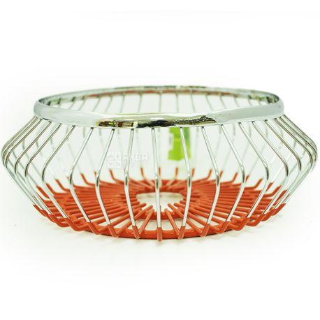 Fissman, Chrome Steel Fruit Basket, 1 Pack
