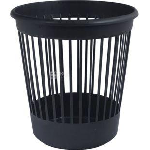 Арника, Урна для мусора, черная, пластиковая, 8,8 л