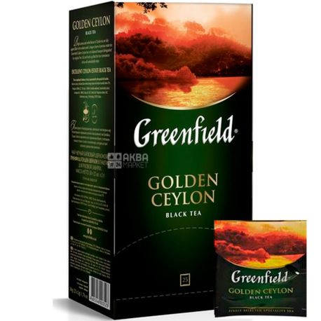 Greenfield Golden Ceylon, 25 пак., Чай Гринфилд, Голден Цейлон, черный