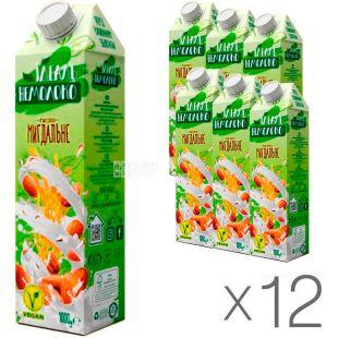 Идеаль Немолоко, 1 л, упаковка 12 шт., Напиток рисово-миндальный, ультрапастеризованный, 3%