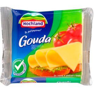 Hochland Gouda, 130 г, Плавленый сыр Гауда, нарезанный, 40%