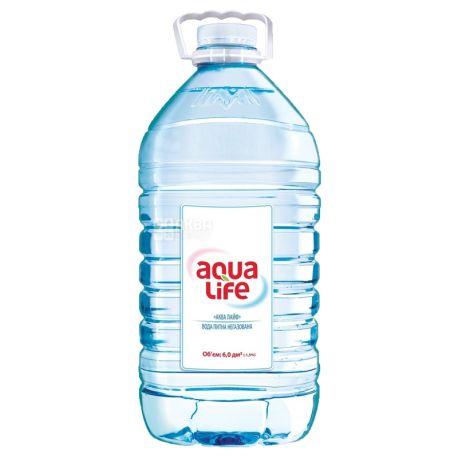 AquaLife, 6 L, Non-carbonated water, PET, PAT