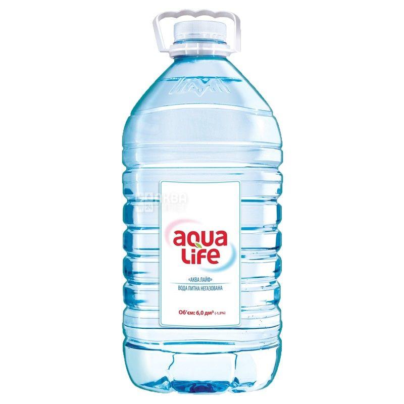 AquaLife, 6 л, Негазована вода, ПЭТ