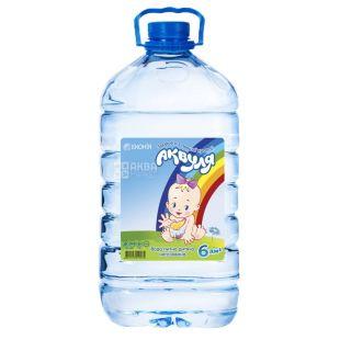 Аквуля, 6 л, Вода детская негазированная, с первых дней жизни, ПЭТ