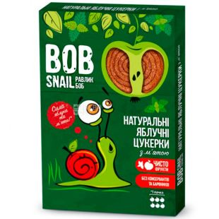 Bob Snail, 60 г, Пастила, натуральная, Яблочная с мятой, без сахара