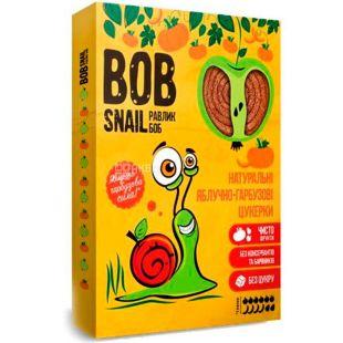 Bob Snail, 60 г, Пастила, натуральная, Яблочно-тыквенная, без сахара