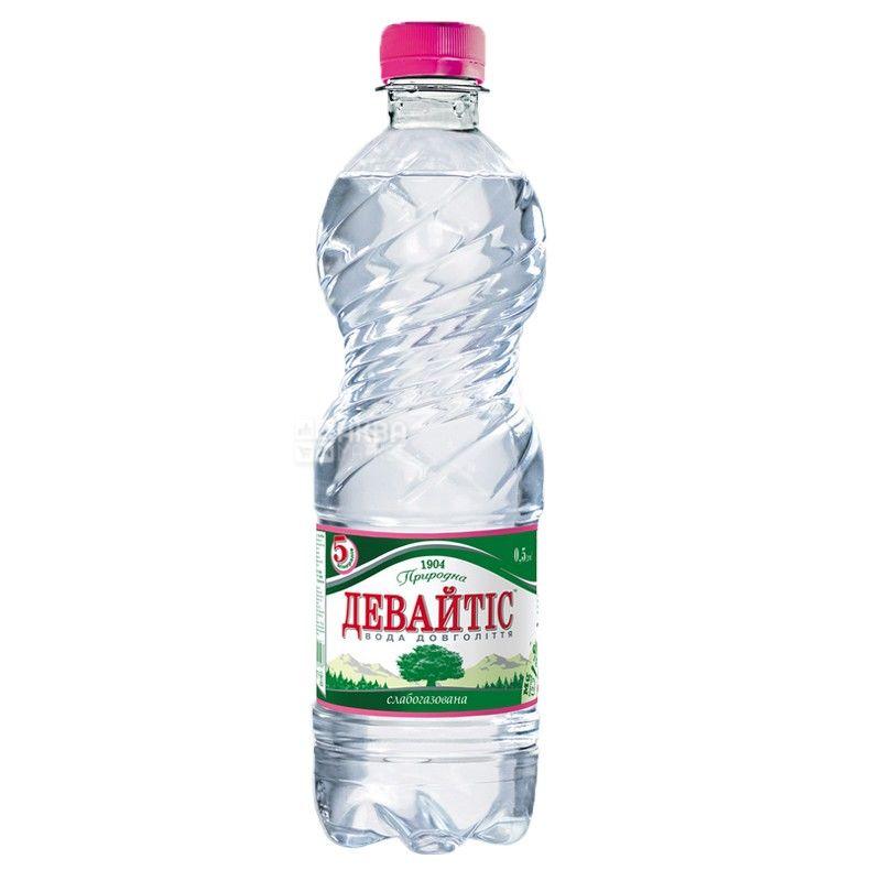 Девайтис, 0,5 л, Вода слабогазированная, ПЭТ