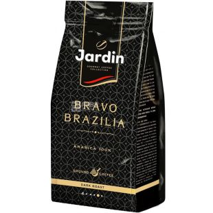 Jardin Bravo Brazilia, 250 g, Coffee Jardin Bravo Brazil, dark roasted, beans